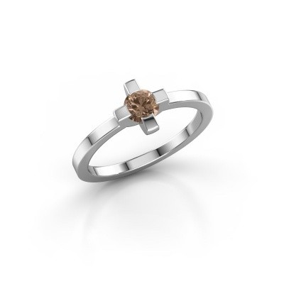 Ring Therese 925 zilver bruine diamant 0.30 crt