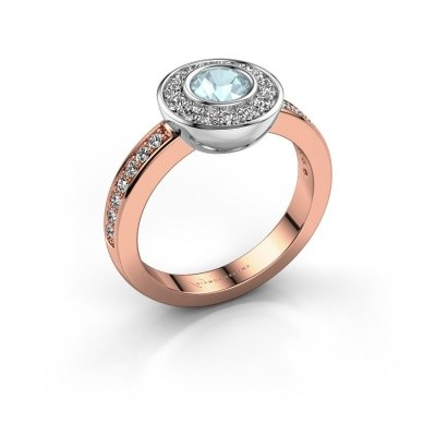 Ring Ivy 585 rose gold aquamarine 5 mm