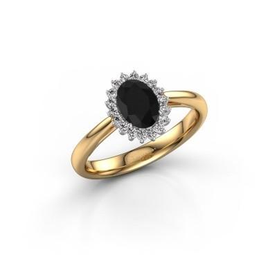 Foto van Verlovingsring Tilly 1 585 goud zwarte diamant 0.96 crt