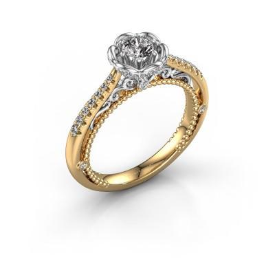 Foto van Aanzoeksring Abbey 585 goud diamant 0.508 crt