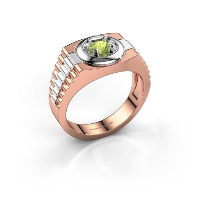 Foto van Heren ring Edward 585 rosé goud peridoot 4.7 mm