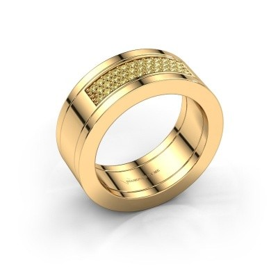 Foto van Ring Marita 1 585 goud gele saffier 1.1 mm