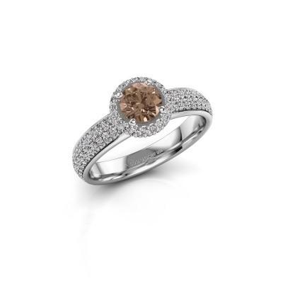 Engagement ring Mildred 585 white gold brown diamond 1.311 crt