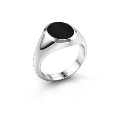 Zegelring Herman 2 375 witgoud onyx 12x10 mm
