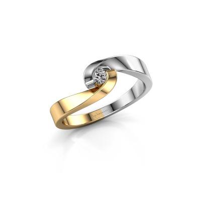 Foto van Verlovingsring Sheryl 585 goud diamant 0.20 crt
