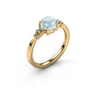 Ring Regine 585 goud aquamarijn 6 mm