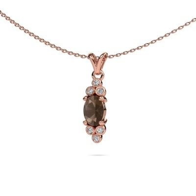 Picture of Pendant Lucy 2 375 rose gold smokey quartz 7x5 mm