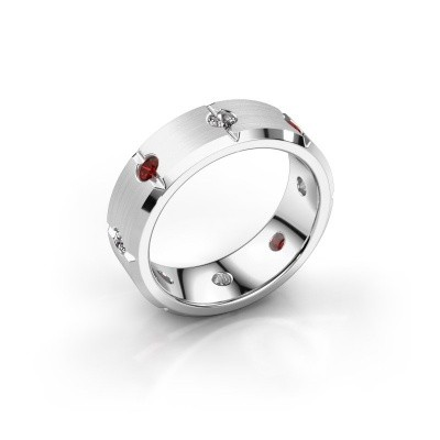Men's ring Irwin 925 silver garnet 2.7 mm
