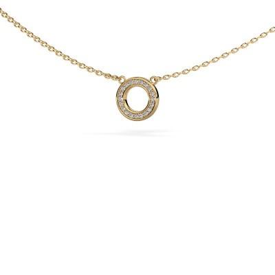 Foto van Hanger Round 2 375 goud diamant 0.05 crt