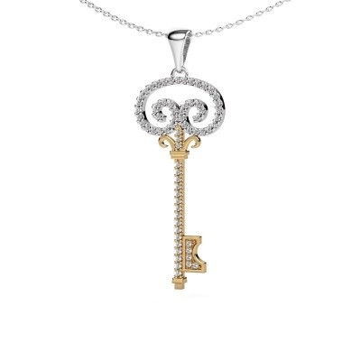 Collier Key 1 585 goud lab-grown diamant 0.293 crt
