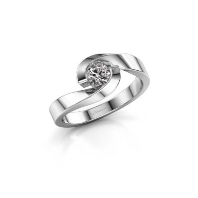 Photo de Bague Sheryl 950 platine diamant 0.30 crt
