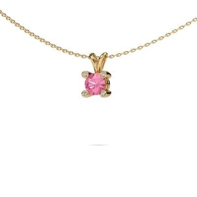 Bild von Anhänger Fleur 585 Gold Pink Saphir 5 mm