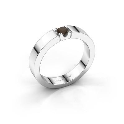 Foto van Belofte ring Dana 1 585 witgoud rookkwarts 3.7 mm