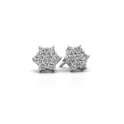Photo de Clous d'oreilles Bonita 585 or blanc diamant 0.77 crt