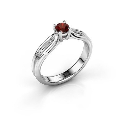 Engagement ring Antonia 1 950 platinum garnet 4 mm