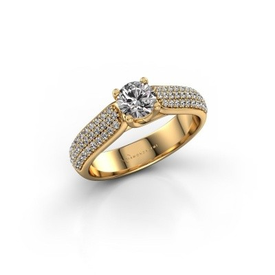 Foto van Verlovingsring Leoness 375 goud zirkonia 5 mm