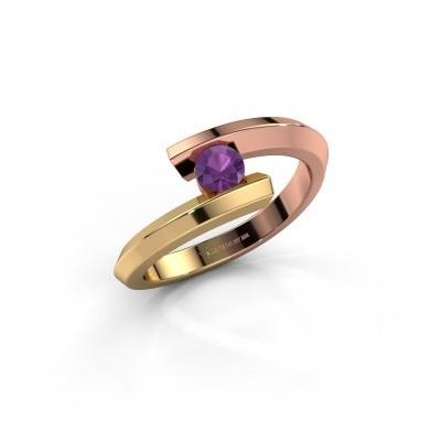 Ring Paulette 585 rose gold amethyst 3.4 mm