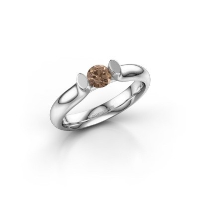 Foto van Verlovingsring Ashlyn 1 585 witgoud bruine diamant 0.30 crt