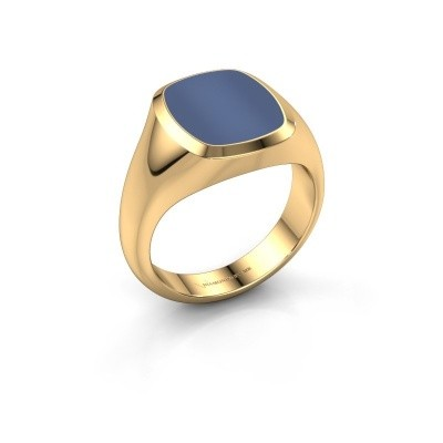Picture of Signet ring Benjamin 2 585 gold blue sardonyx 13x11 mm