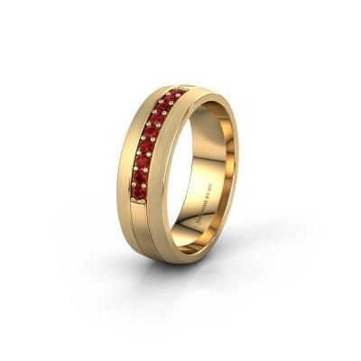 Trouwring WH0413L26APM 585 goud robijn ±6x1.7 mm