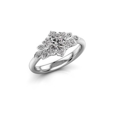 Picture of Engagement ring Tatjana 950 platinum zirconia 5 mm