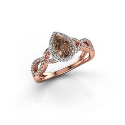 Engagement ring Dionne pear 585 rose gold brown diamond 0.99 crt