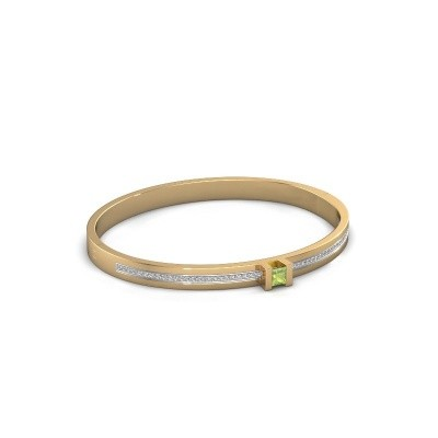 Armband Desire 585 goud peridoot 4 mm