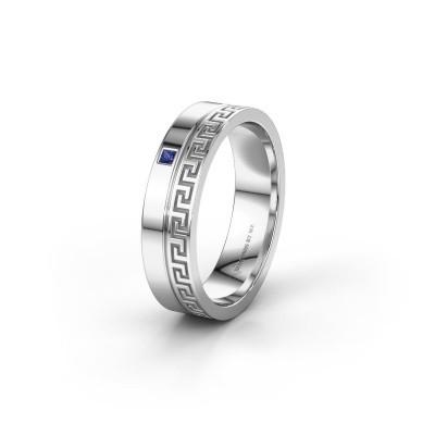 Huwelijksring WH0252L24X 950 platina saffier ±4x1.5 mm