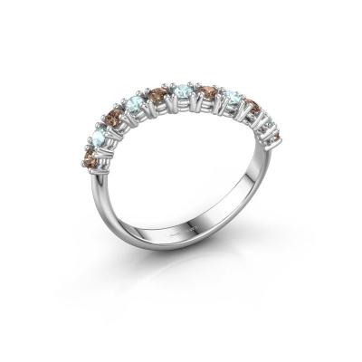 Ring Eliza 925 zilver bruine diamant 0.18 crt