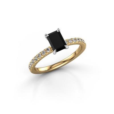 Foto van Verlovingsring Crystal EME 2 585 goud zwarte diamant 1.08 crt