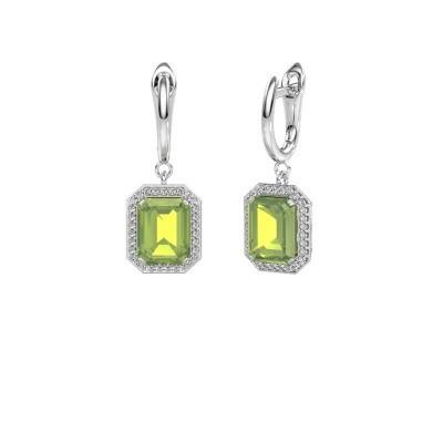 Drop earrings Dodie 1 950 platinum peridot 9x7 mm