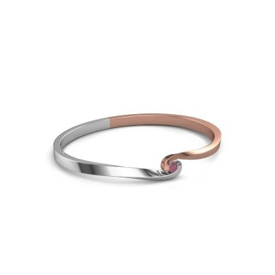 Bangle Sheryl 585 rose gold rhodolite 3.7 mm