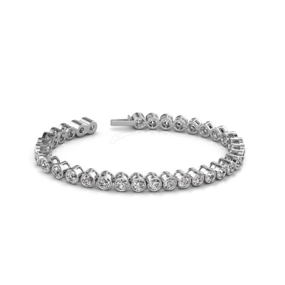 Tennisarmband Allegra 4 mm 585 witgoud lab-grown diamant 9.50 crt