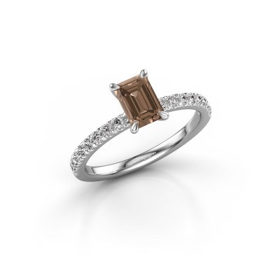 Foto van Verlovingsring Crystal EME 2 925 zilver bruine diamant 0.90 crt