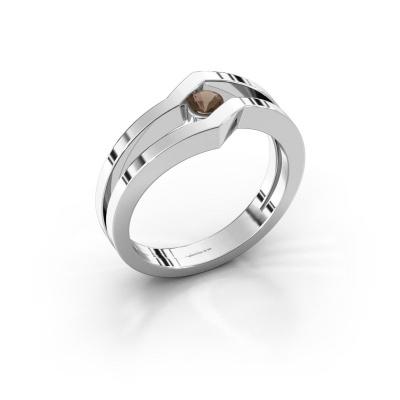 Ring Elize 925 silver smokey quartz 3.4 mm