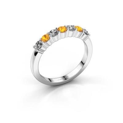 Foto van Verlovingsring Yasmin 7 925 zilver citrien 2.7 mm
