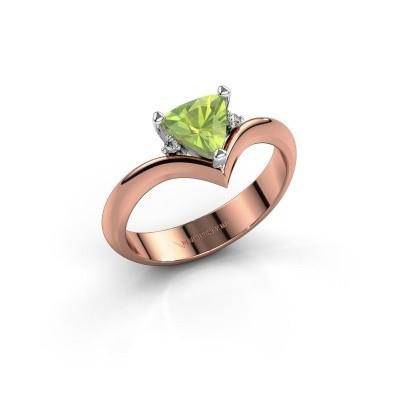 Ring Arlette 585 rosé goud peridoot 7 mm