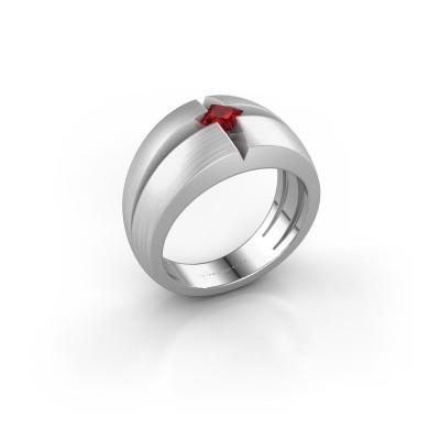 Foto van Heren ring Rens 925 zilver robijn 3.5 mm