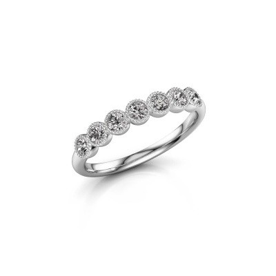 Photo de Bague Mariam half 585 or blanc diamant synthétique 0.385 crt