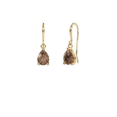 Foto van Oorhangers Laurie 1 585 goud bruine diamant 0.95 crt