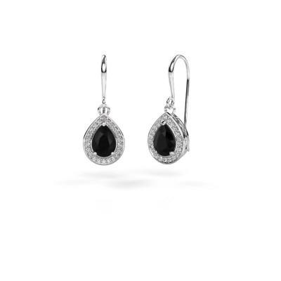 Foto van Oorhangers Beverlee 1 585 witgoud zwarte diamant 1.67 crt