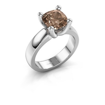 Ring Clelia CUS 950 platinum brown diamond 3.00 crt