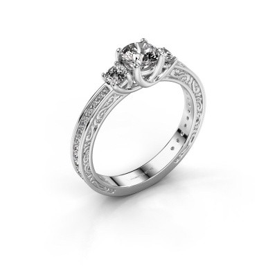 Foto van Verlovingsring Betty 2 585 witgoud diamant 0.957 crt