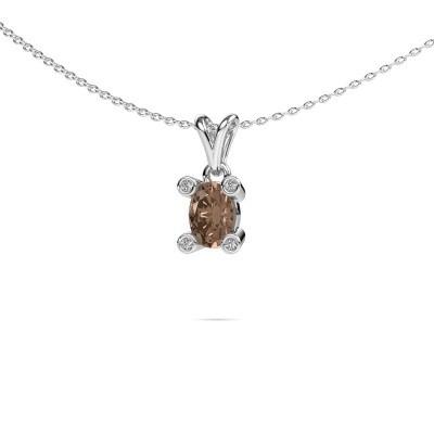 Foto van Ketting Cornelia Oval 950 platina bruine diamant 0.82 crt