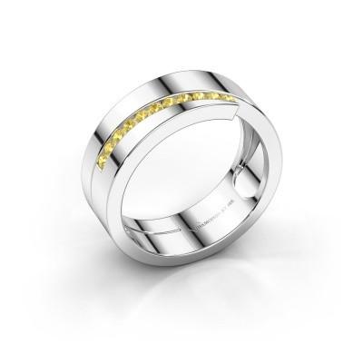 Foto van Ring Loma 925 zilver gele saffier 1.5 mm
