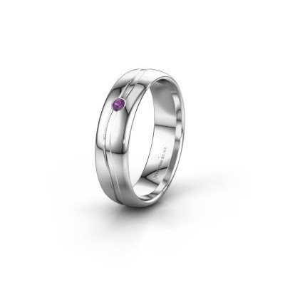 Picture of Wedding ring WH0905L35X 925 silver amethyst ±5x1.7 mm