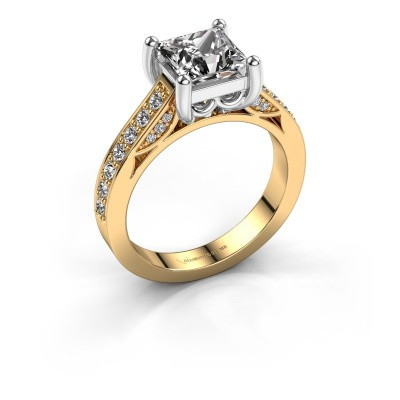 Engagement ring Feline 585 gold diamond 1.70 crt