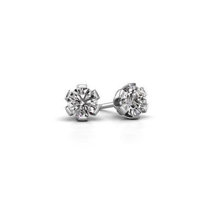 Picture of Stud earrings Julia 950 platinum diamond 0.50 crt