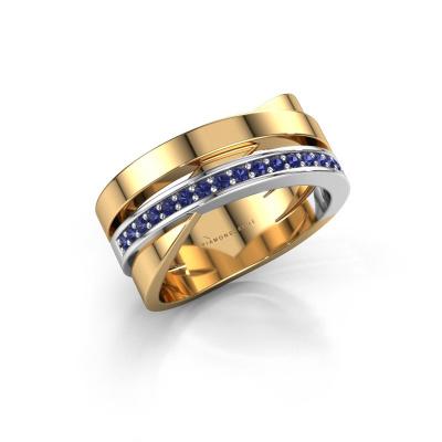 Ring Yolando 585 gold sapphire 1.3 mm