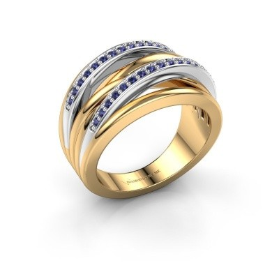 Foto van Ring Annabel 2 585 goud saffier 1.2 mm